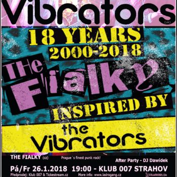 PF 2018 + 25.1.2018/ 007 = 18let TF + The Vibrators!